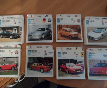 Collection de fiches automobiles