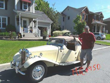 Pierre Bourassa, Granby, MG TD 1950