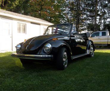 Volkswagen Super Beetle karman triple noir cabriolet 1979
