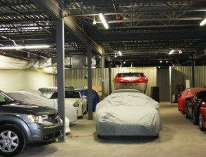 Remisage de voitures anciennes